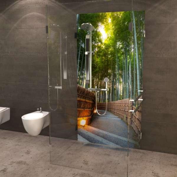 Duschrückwand Bambuswald