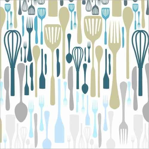 Küchenrückwand Messer und Gabel
