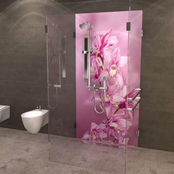 Duschrückwand Orchidee