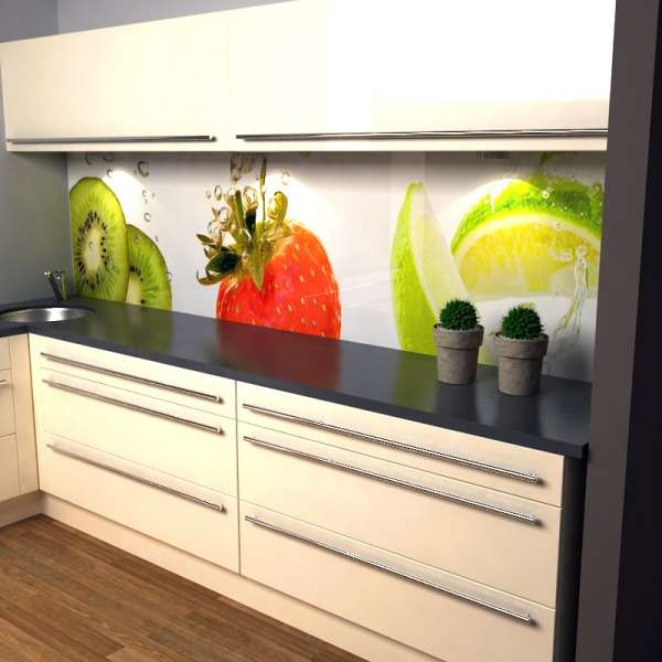 Küchenrückwand Früchtemix in Kueche