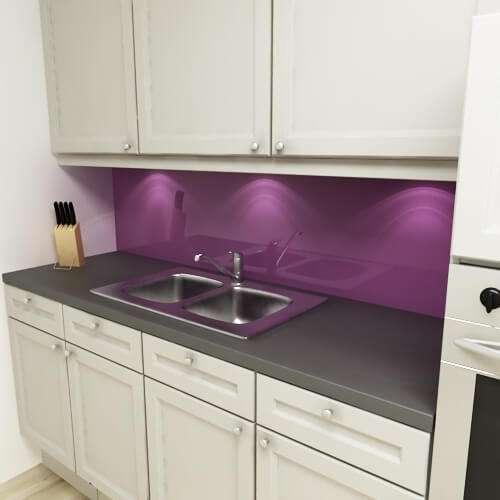 Küchenrückwand uni violett