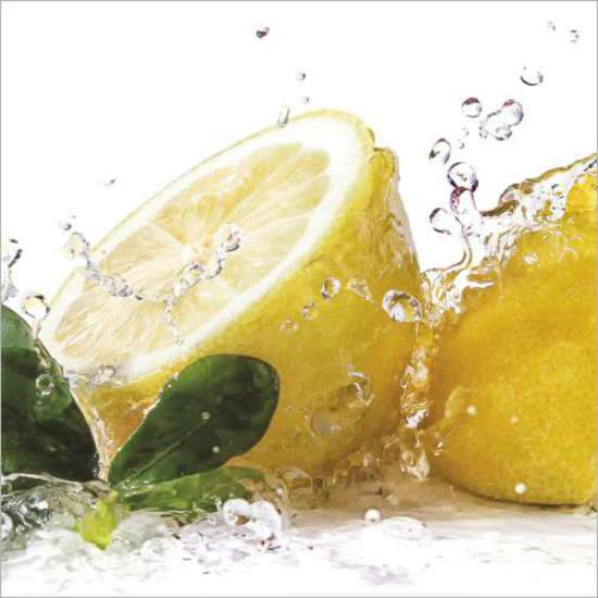 Küchenrückwand Zitronensplash