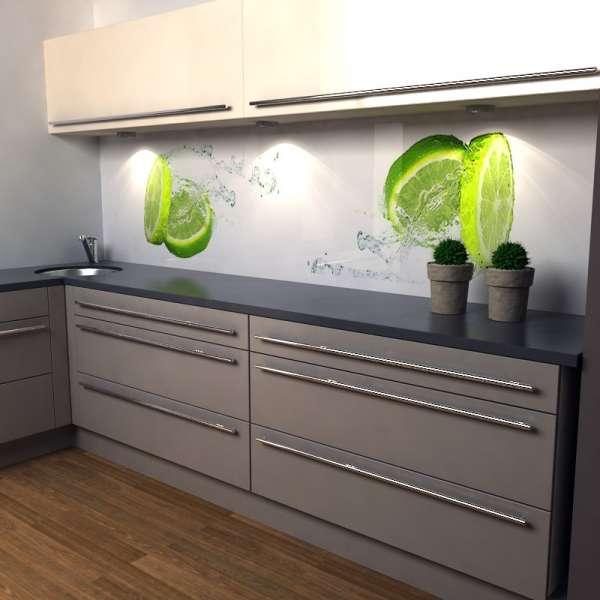 Küchenrückwand Limette 01 in Küche