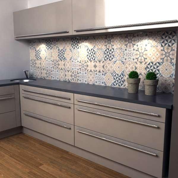 Küchenrückwand portugiesische Fliesen in kueche