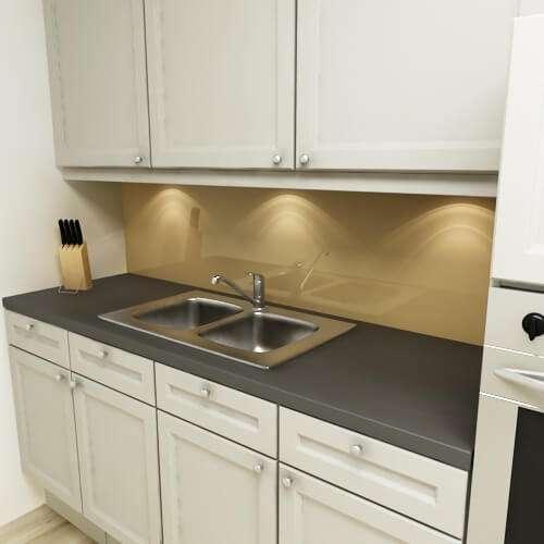 Küchenrückwand uni hellbraun