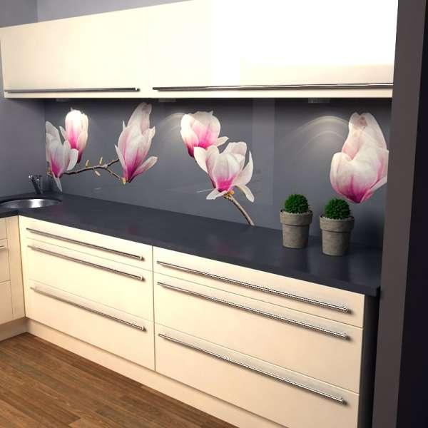 Küchenrückwand Magnolien in Küche