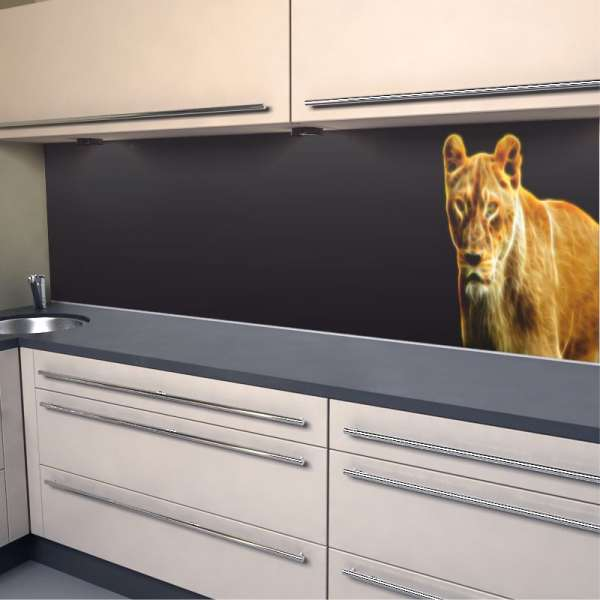 Küchenrückwand Löwin_Design
