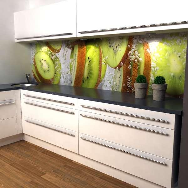 Küchenrückwand Kiwischeiben in küche