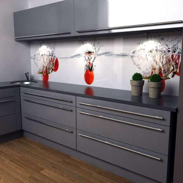 Küchenrückwand Toamtensplash in Kueche