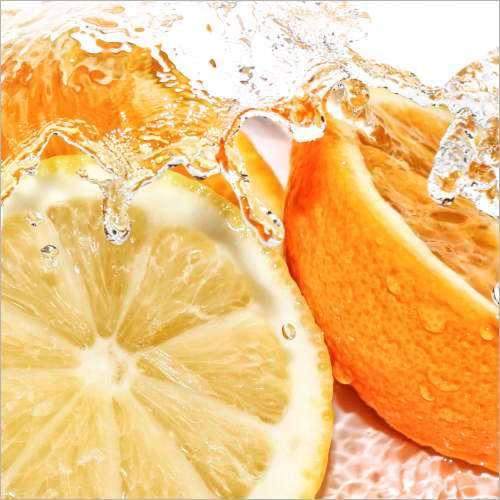 Küchenrückwand Orangen und Zitronen