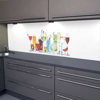 Küchenrückwand Drinks