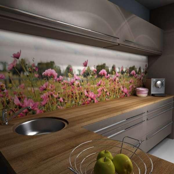 Küchenrückwand Blütenpanorama