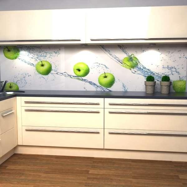 Küchenrückwand Apfelsplash 3d