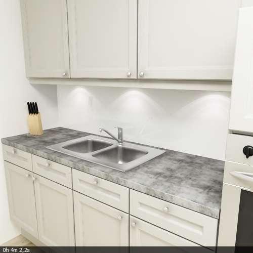 Küchenrückwand uni weiß