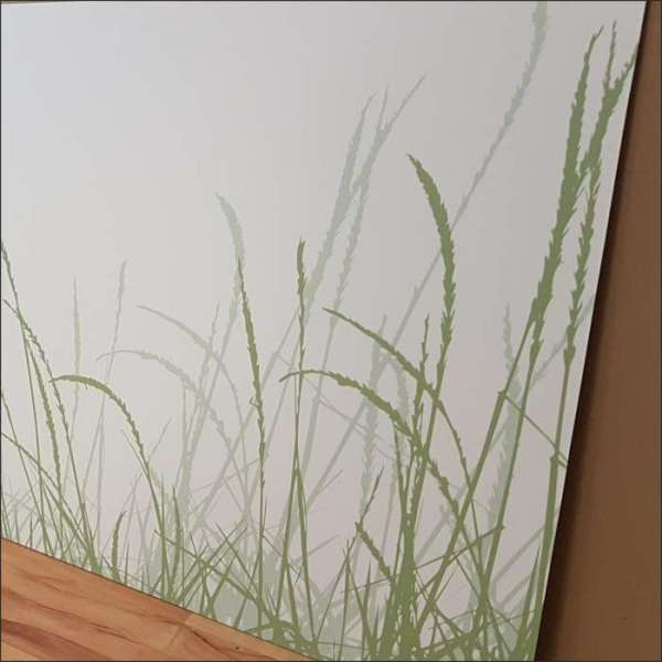 Restpostenrückwand grüne Gräser