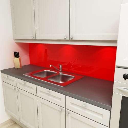 Küchenrückwand uni blutrot