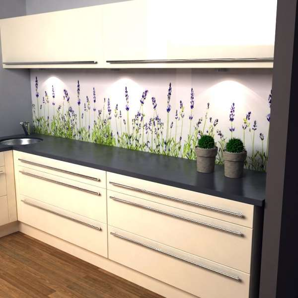 Küchenrückwand Lavendel in Kueche