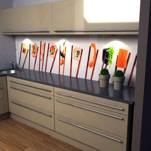 Küchenrückwand Sushi in Küche