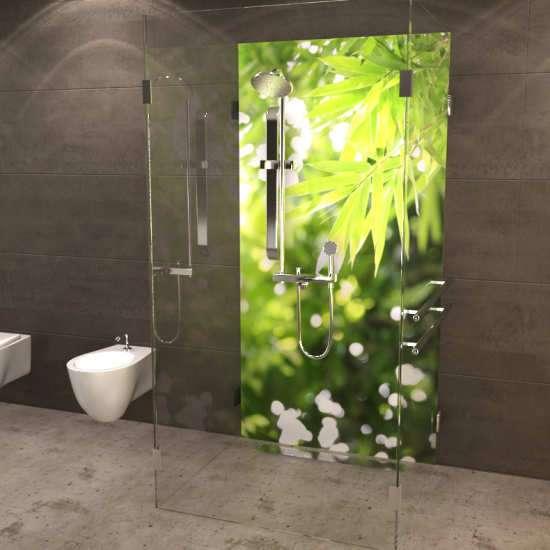 Duschrückwand Bambusblätter