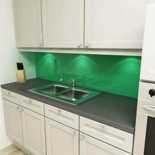 Küchenrückwand uni grasgrün