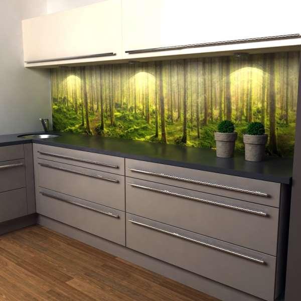 Küchenrückwand Wald 02 in kueche