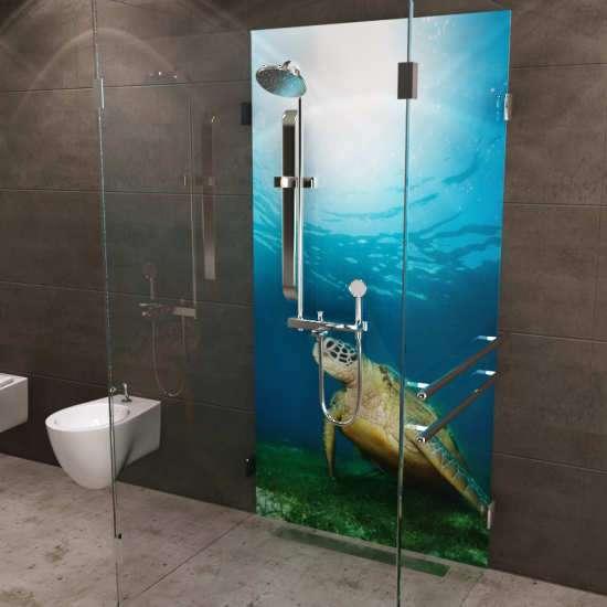 Duschrückwand Wasserschildkröte