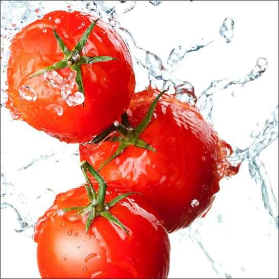 Küchenrückwand Tomatensplash 02