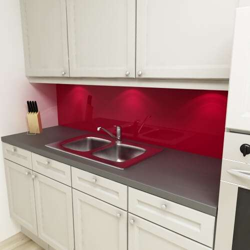 Küchenrückwand uni purpurrot