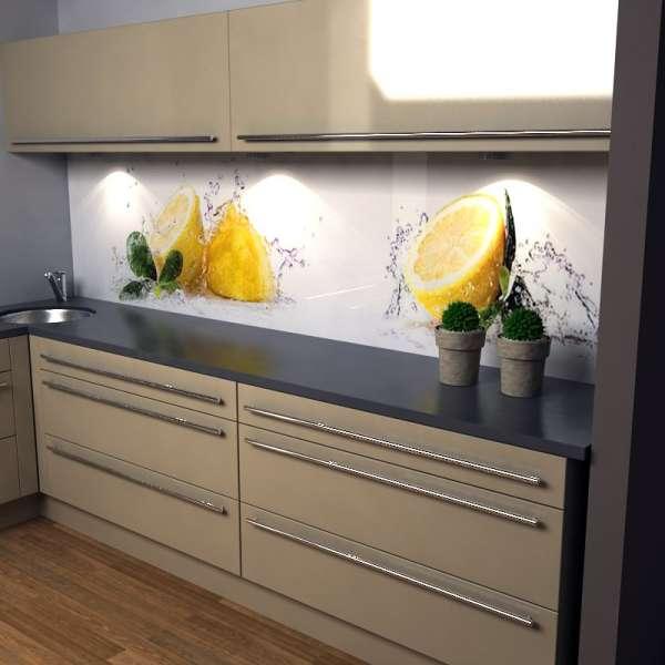 Küchenrückwand Zitronensplash in kueche
