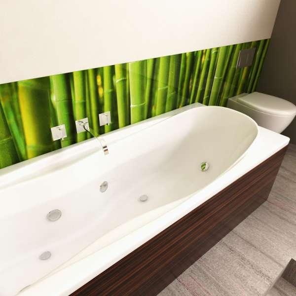 Badrückwand Bambus