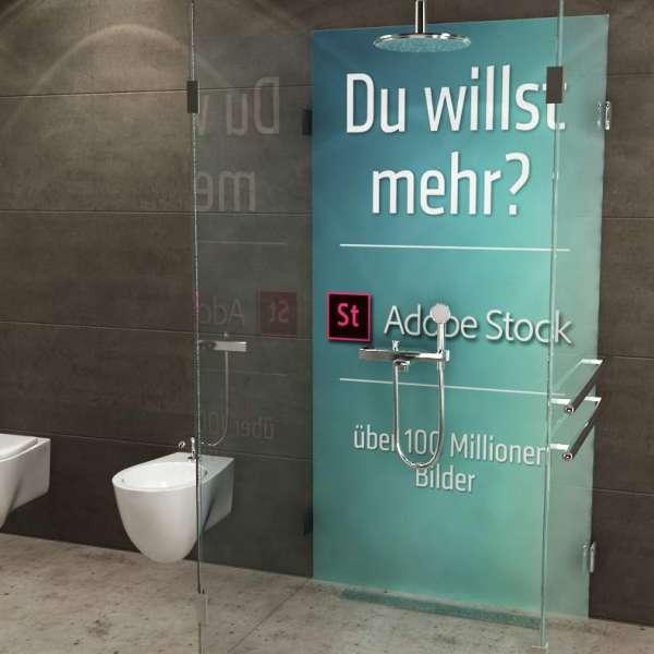 Duschrückwand mit Fotolia Bild