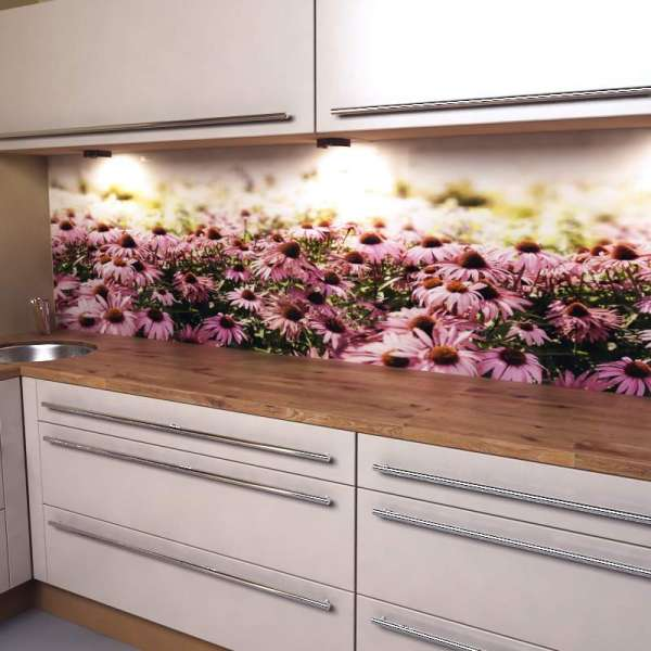 Küchenrückwand Blütenzauber