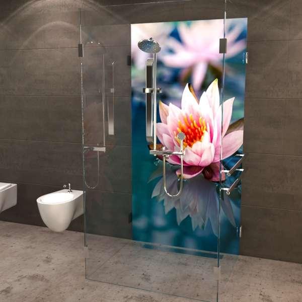 Duschrückwand Lotusblume