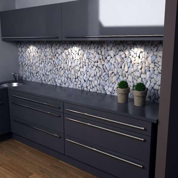 Küchenrückwand Kieselsteine in Kueche