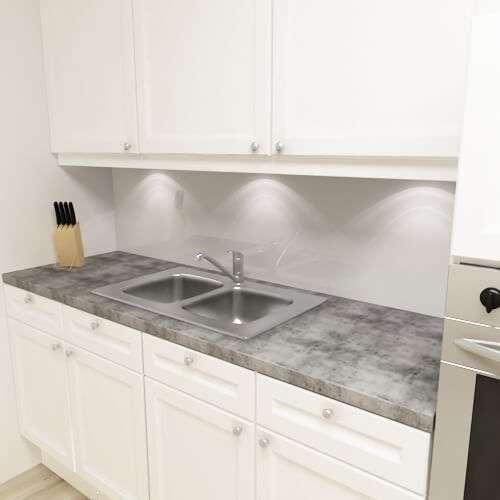 Küchenrückwand uni hellgrau