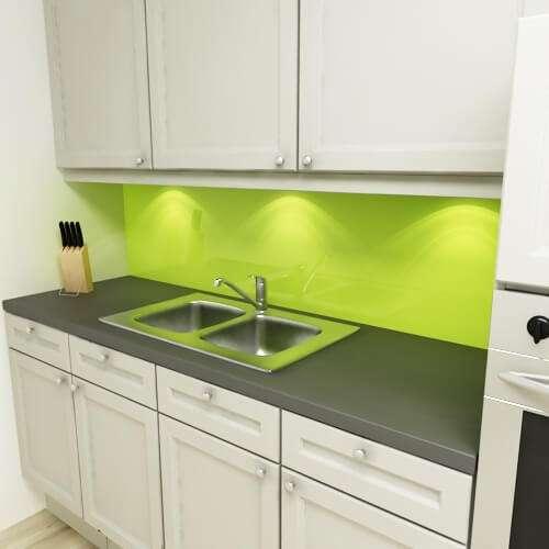 Küchenrückwand uni lindgrün