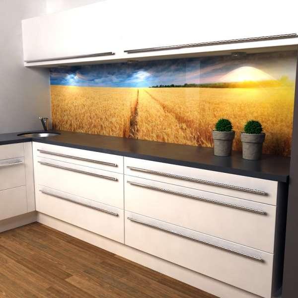 Küchenrückwand Kornfeld in Küche