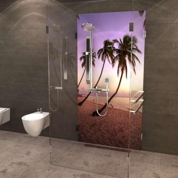 Duschrückwand Palmenstrand