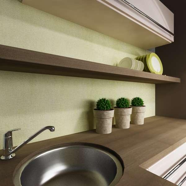 Küchenrückwand mediterran grün