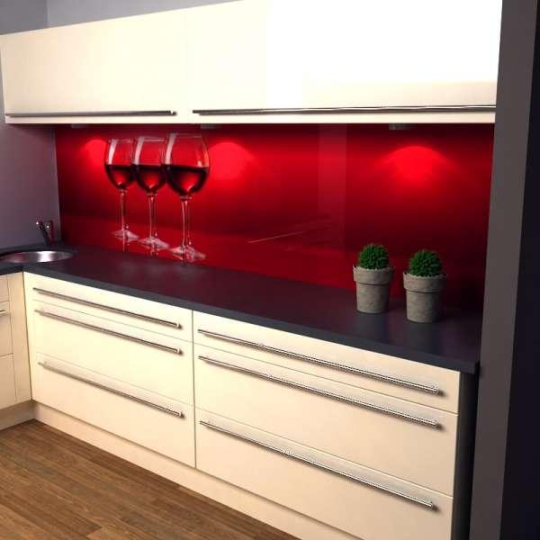 Küchenrückwand Weingläser in Küche