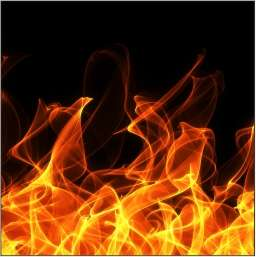 Küchenrückwand im Flammendesign 01
