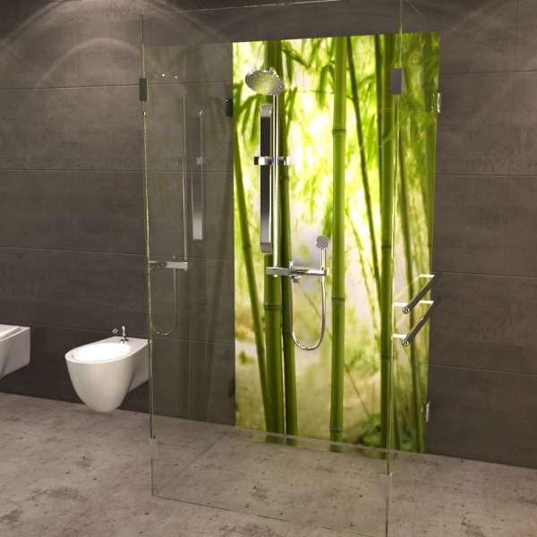 Duschrückwand Bambushalme