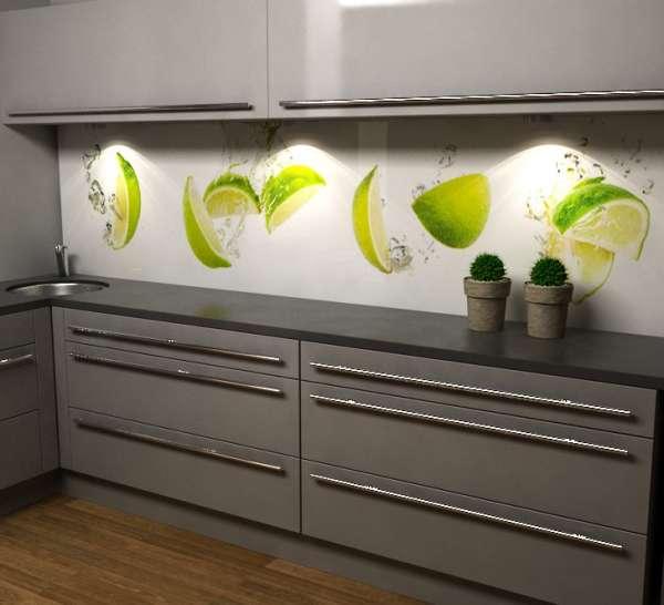 Küchenrückwand mit Limetten 02