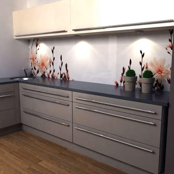 Küchenrückwand Magnolien 02 kueche