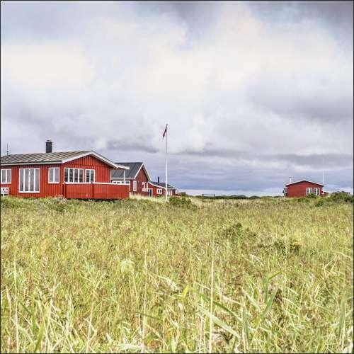 Küchenrückwand Landschaft mit Häusern