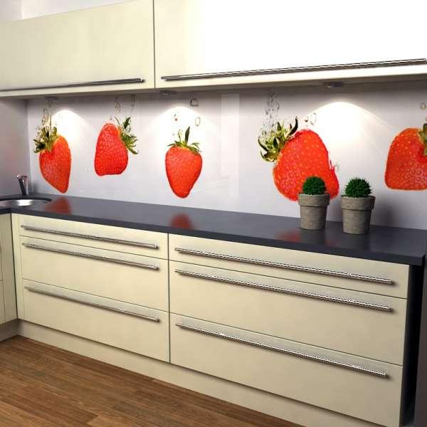 Küchenrückwand Erdbeeren in kueche