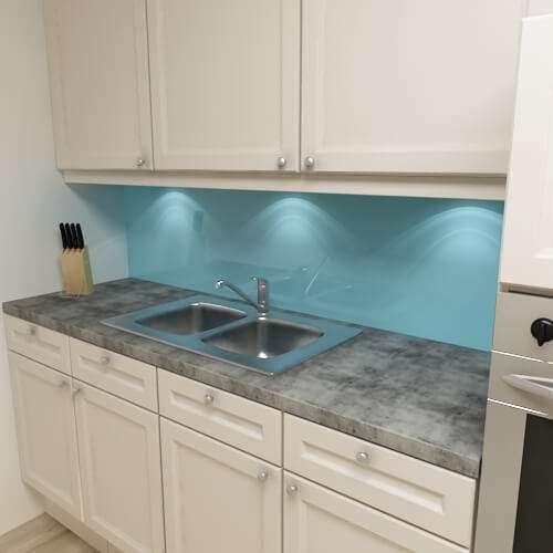 Küchenrückwand uni lichtblau