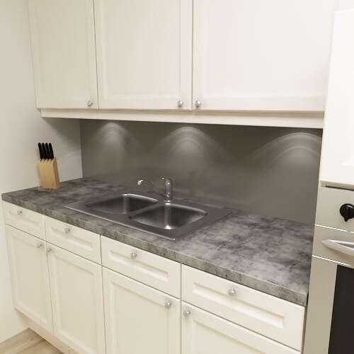 Küchenrückwand uni dunkelgrau