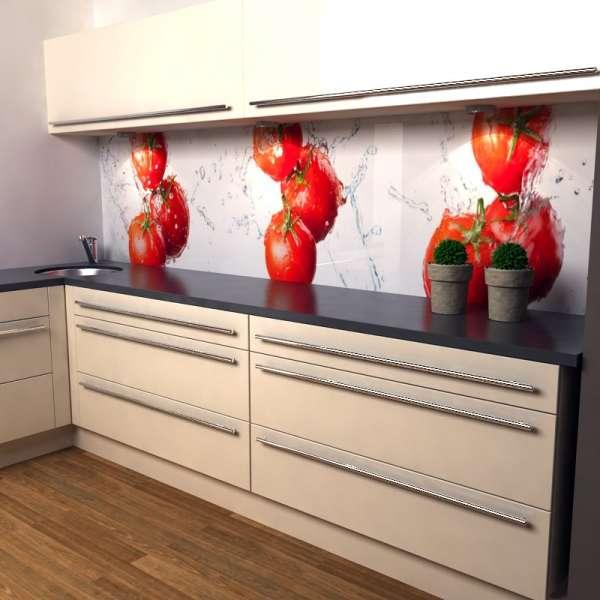 Küchenrückwand Tomatensplash 02 in Küche