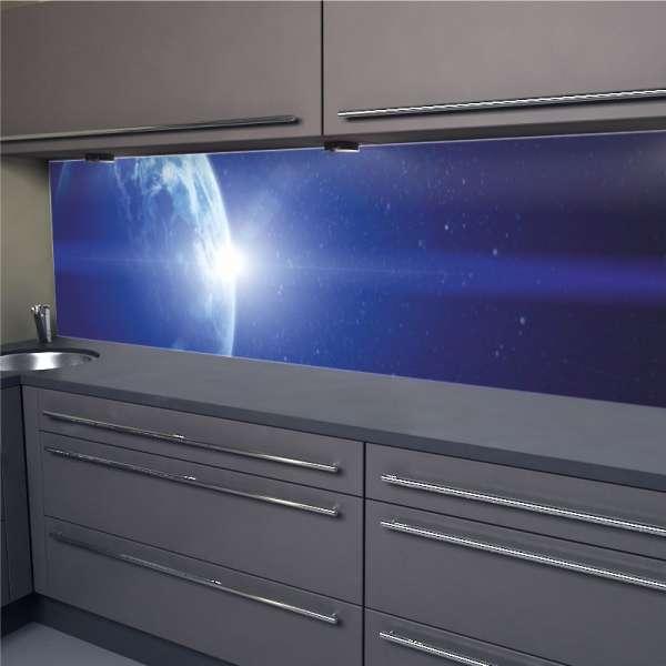 Küchenrückwand Sonnenaufgang im Weltall